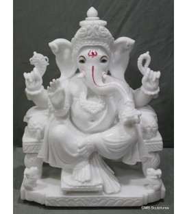 Seated ganpati statue