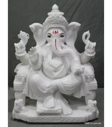 Seated ganpati statue
