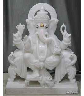 Pure White Ganesh