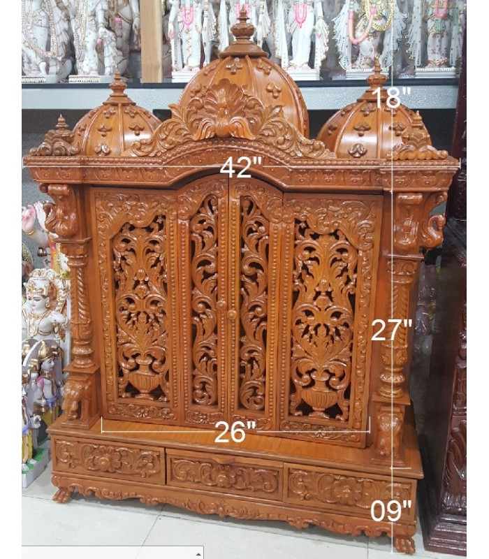 Buy Beautiful Designer Temple With Doors Online From India