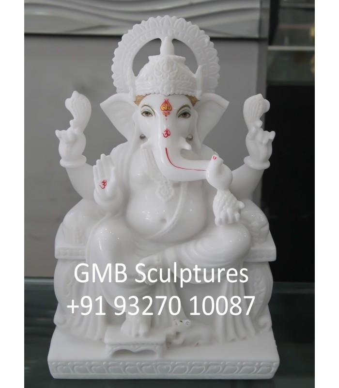 Ganesh Statue Buy Pure White Marble Ganesh Statue Online