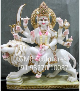 Goddess Sherawali from Marble