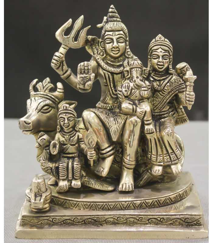Brass Lord Shiva Parivar Statue Idol Murti Statue Usa Uk