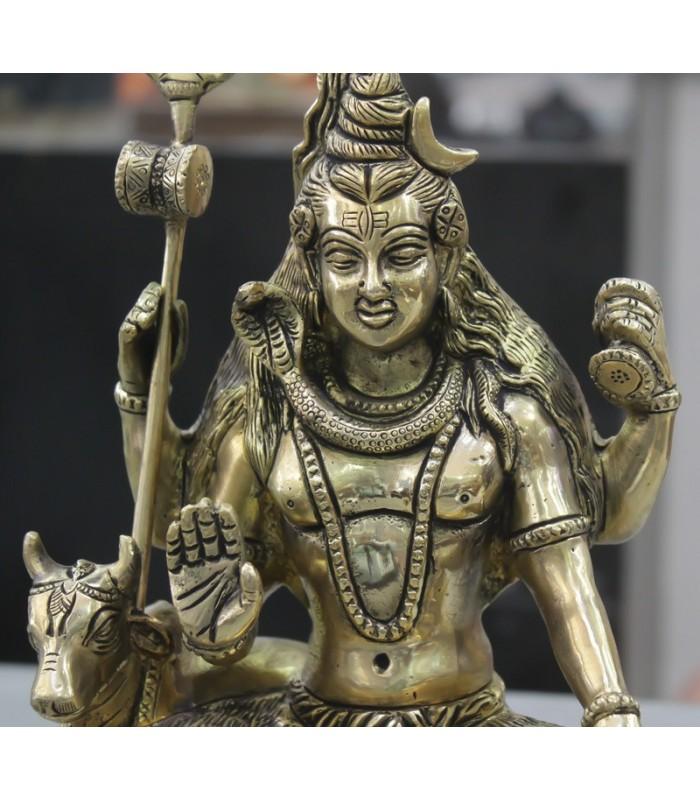 Brass Hindu God Shiva Statue Religious Murti Usa Uk
