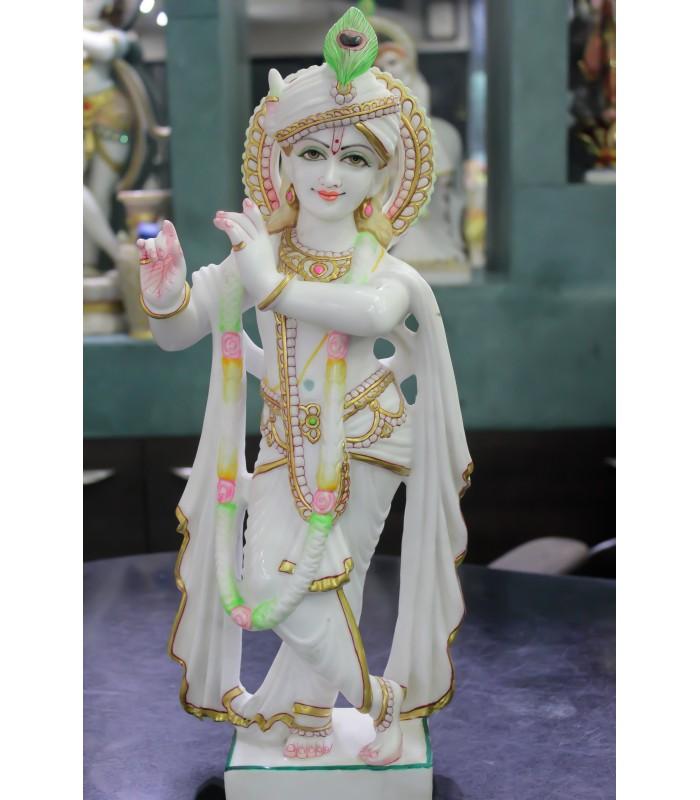 Marble Krishna Murti Ahmedabad Gujarat Gmb Sculptures