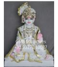 Marble Sahajanand Swami Murti