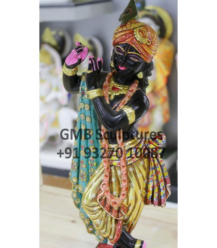 Black Krishna Statue For Home Idols Murti Murti Small At