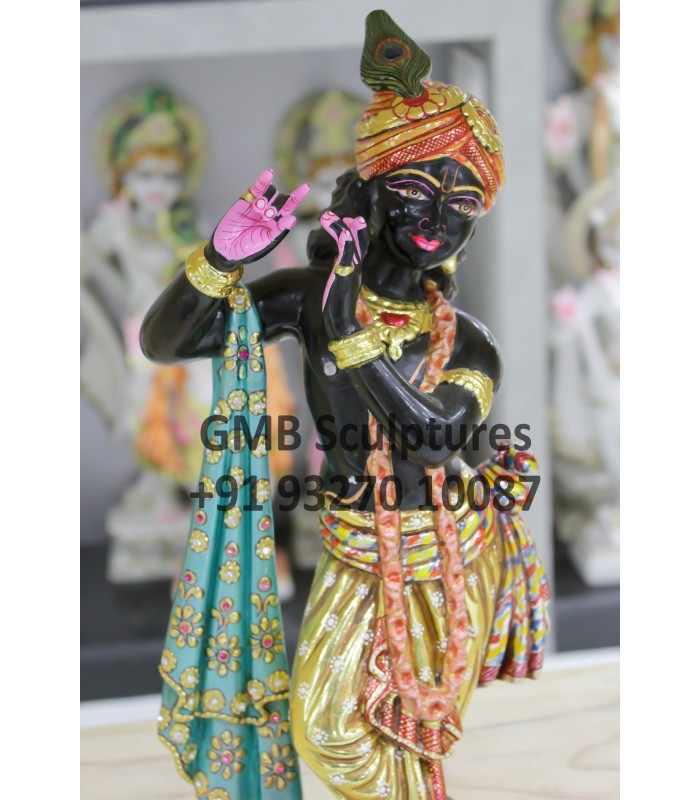 Black Krishna Statue For Home Idols Murti Murti Small At