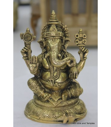 Statue of Ganesha from Brass