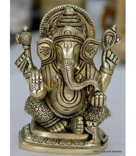 Small Idol of Ganesha from Brass