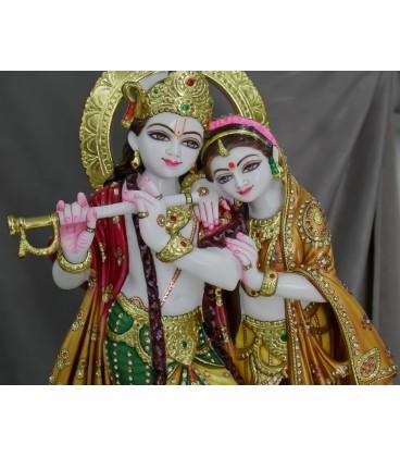 Radha Krishna with Beautiful Colours (JUJ240010)