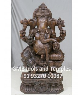 Wood Ganesh