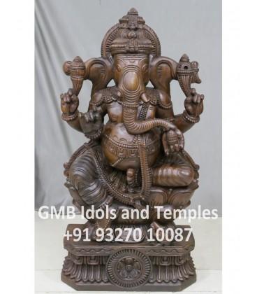 Wood Ganesh
