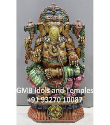 Colourful Statue of Ganesha