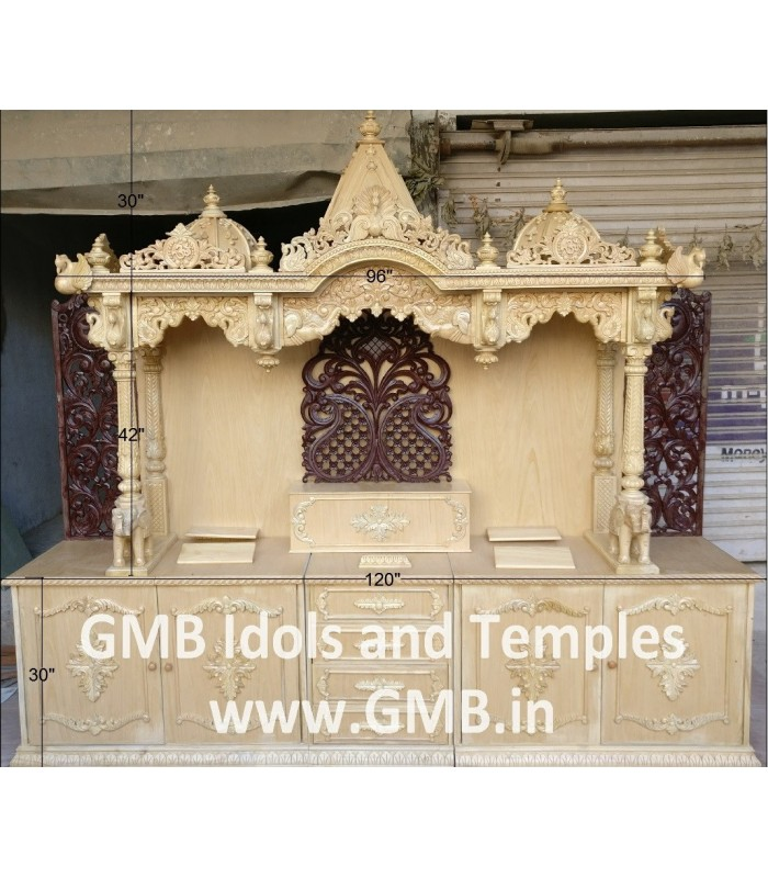 Buy Large Wooden Temple Online In Usa Gmb Idols And Temples