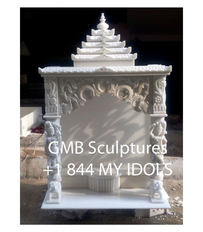 Buy Cusotm Made Marble Mandir Online In Usa From Gmb Idols