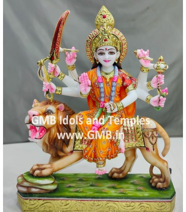 Colour Goddess Durga Murti