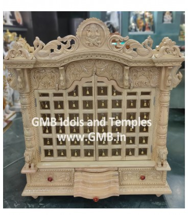 Sevan Wood Temple with Doors and Bells