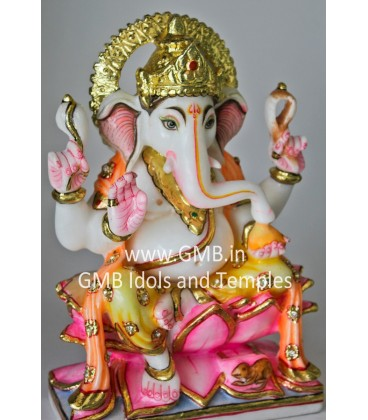 Colourful Marble Ganesh Statue