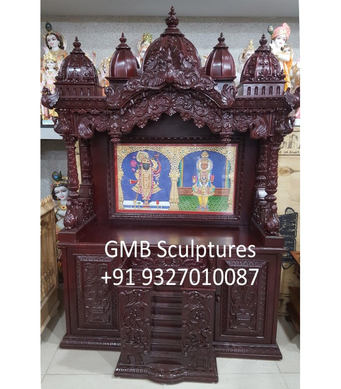 Buy Beautiful Wooden Temple For Home Online From India To