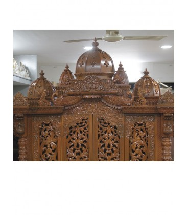 Wooden Temple with Doors