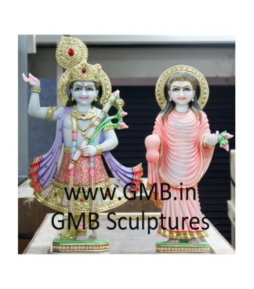 Buy Beautiful Pair Of Yamunaji And Mahaprabhuji Online At