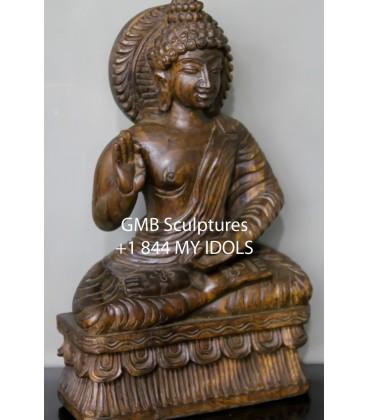 Wooden Small Budhha