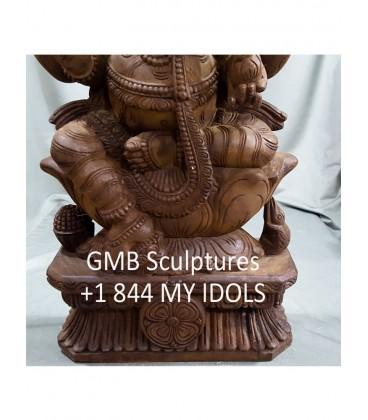 Wooden Ganesha
